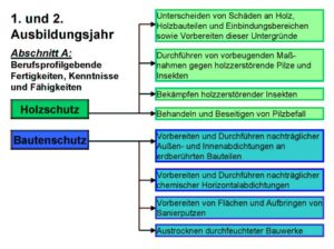 1. und 2. Ausbildungsjahr Kenntnisse Holzschutz und Bautenschutz